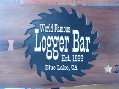 WoodLab Designs Logger Bar signage