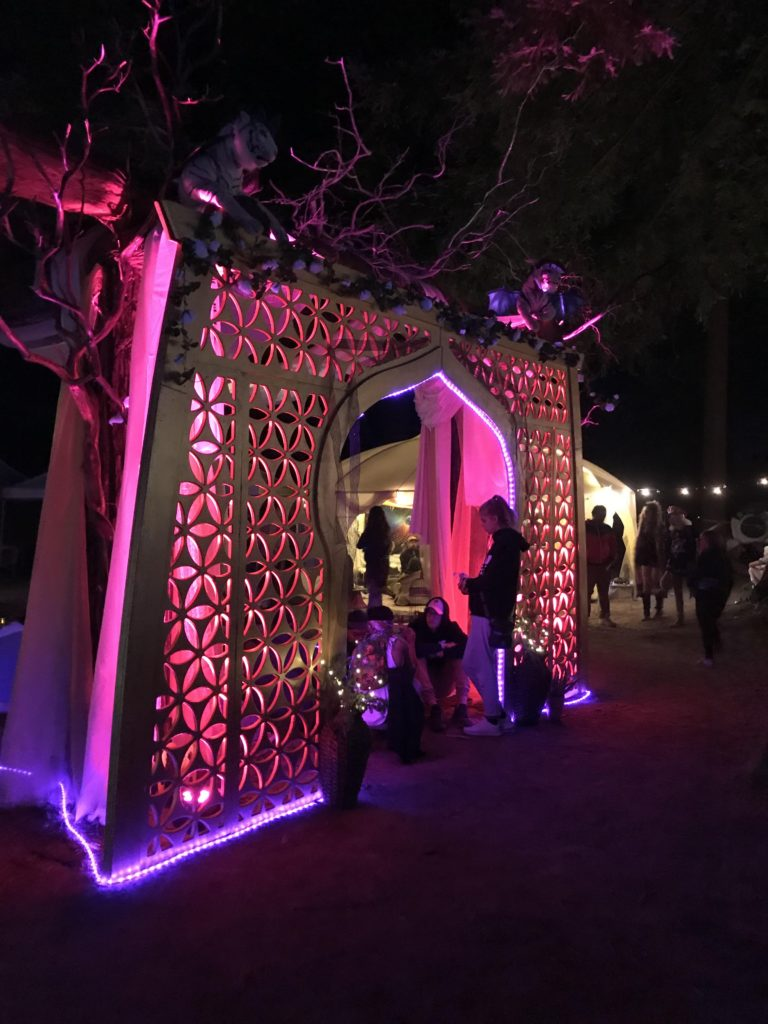 WoodLab Designs Laser Cut Northern Nights Group Camp Structure with LED Lights