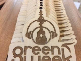 WoodLab Designs Laser cut and etched Humboldt Green Week VIP Event Passes