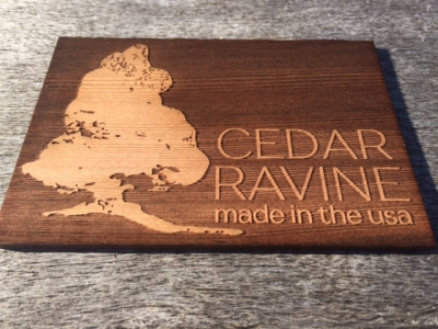 Cedar Ravine Redwood Laser Etched Sign Prototype