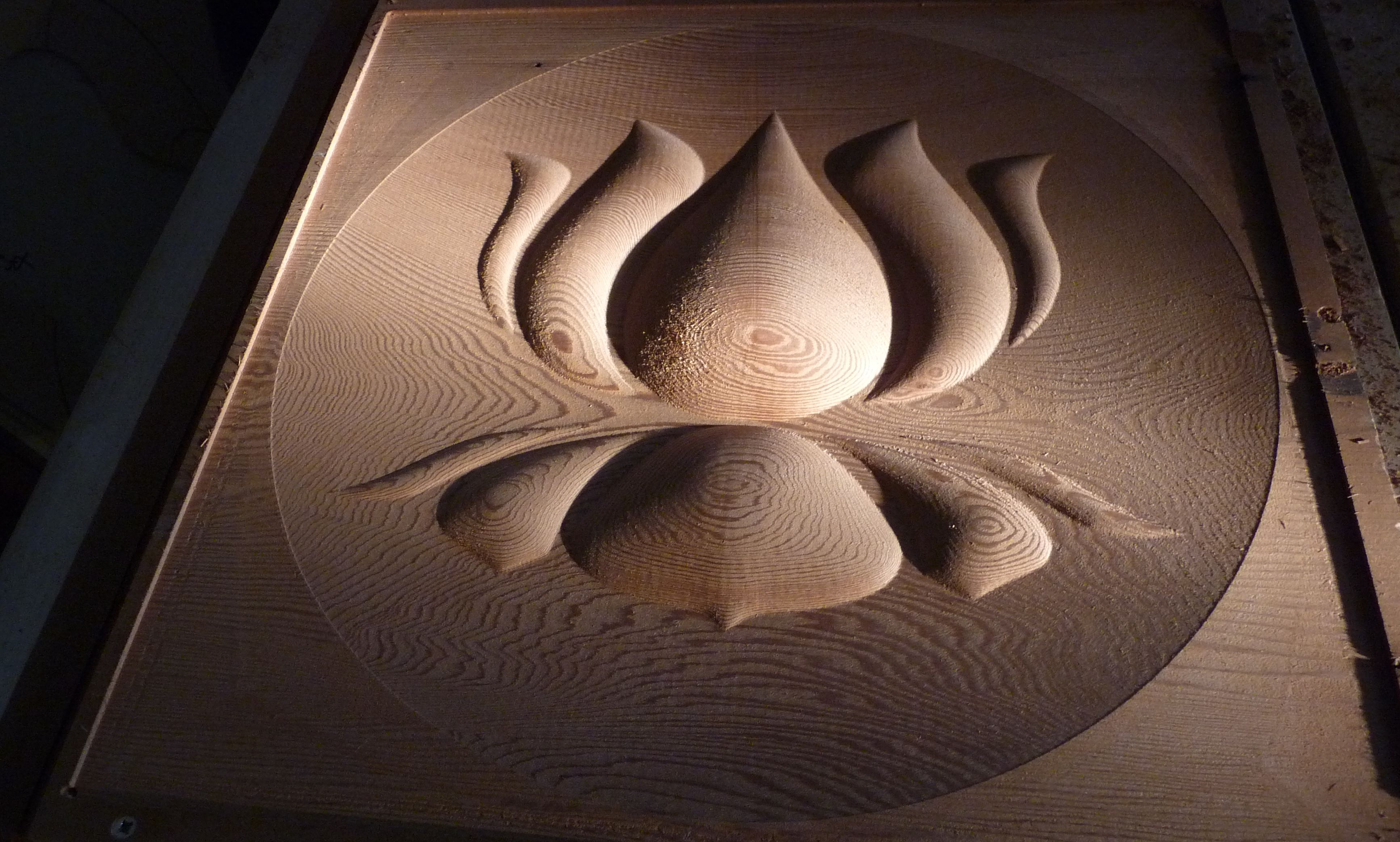 CNC Created Lotus Wall Mounted Artwork