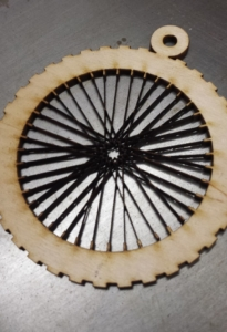 Bicycle Wheel with Spokes ornament