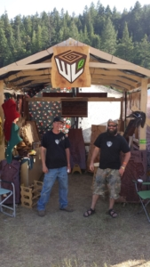 WoodLab Crew with Custom Wooden Craft Fair Booth