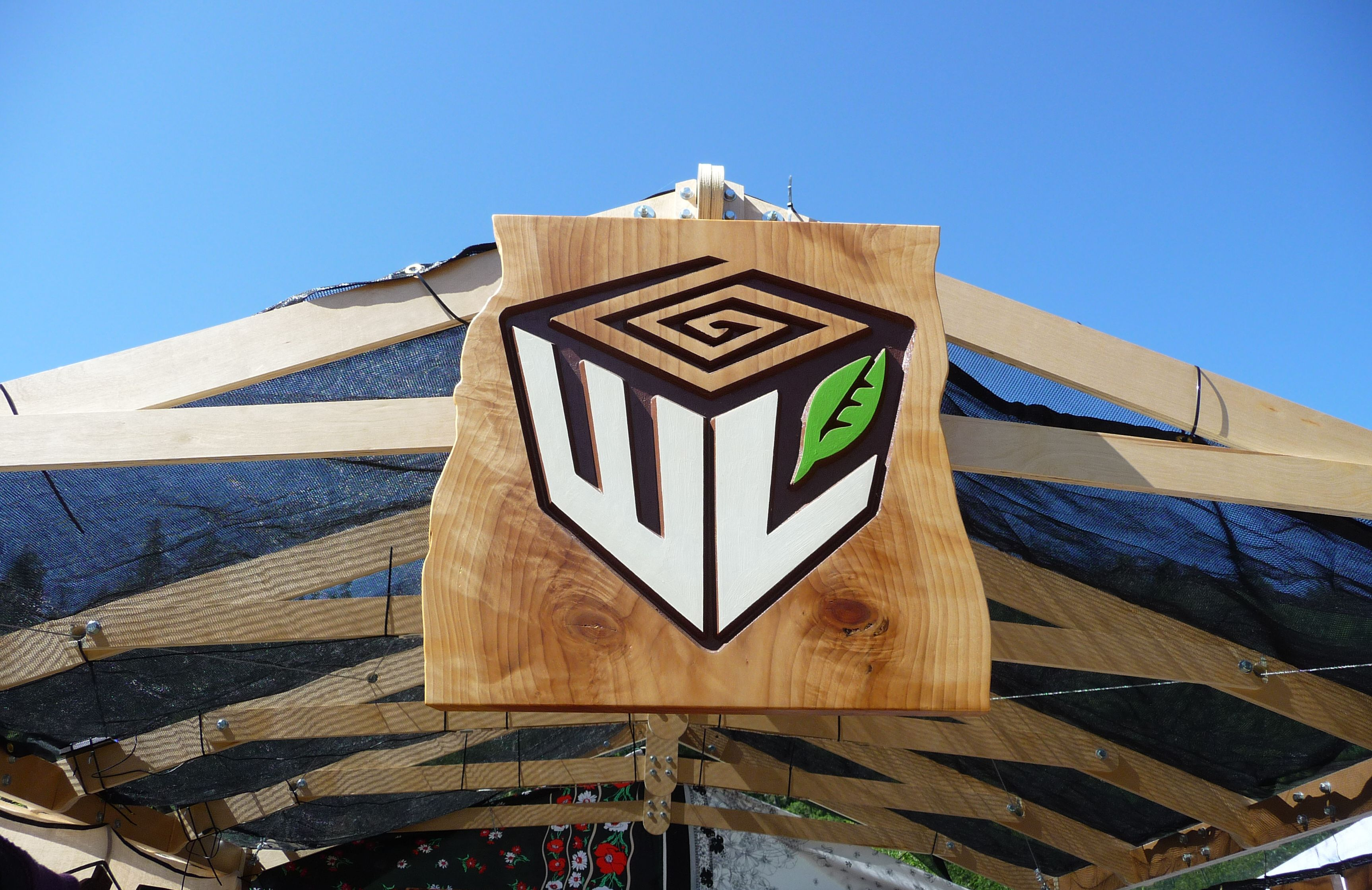 WoodLab Designs Craft Booth Painted Wooden signage
