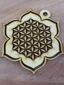 Sacred Geometry wooden ornament