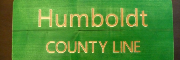 WoodLab Designs Humboldt County Line Ornament