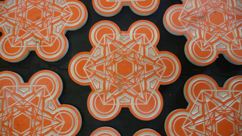 Orange Mandala ornaments