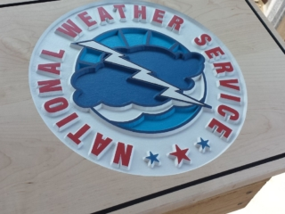 WoodLab Designs National Weather Service Hand Painted Wooden signage