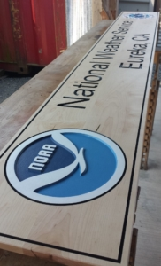 WoodLab Designs NOAA Wooden Signage