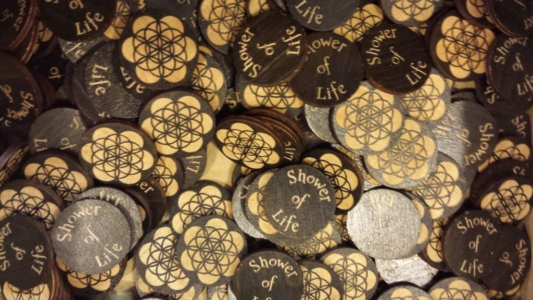 WoodLab Designs Shower of Life Token ornaments