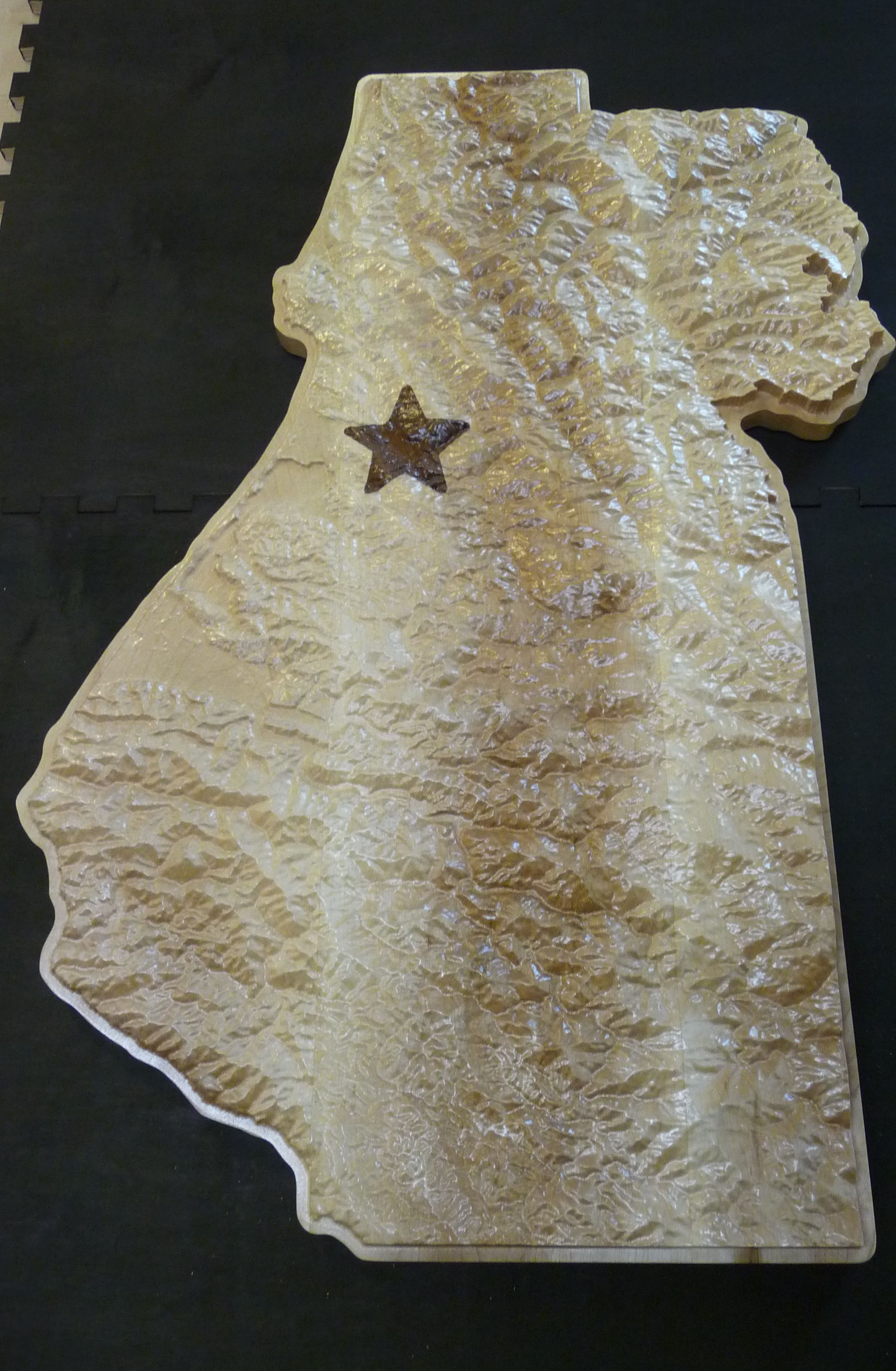 Maple Humboldt County Topographical Map with Location Star Icon