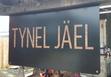 Jewelry Tradeshow wooden signage
