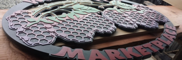 WoodLab Designs Wildberries Marketplace Hand Painted wooden signage