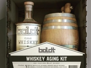 WoodLab Designs Boldt Distillery Whiskey Aging Kit Gift Box Display