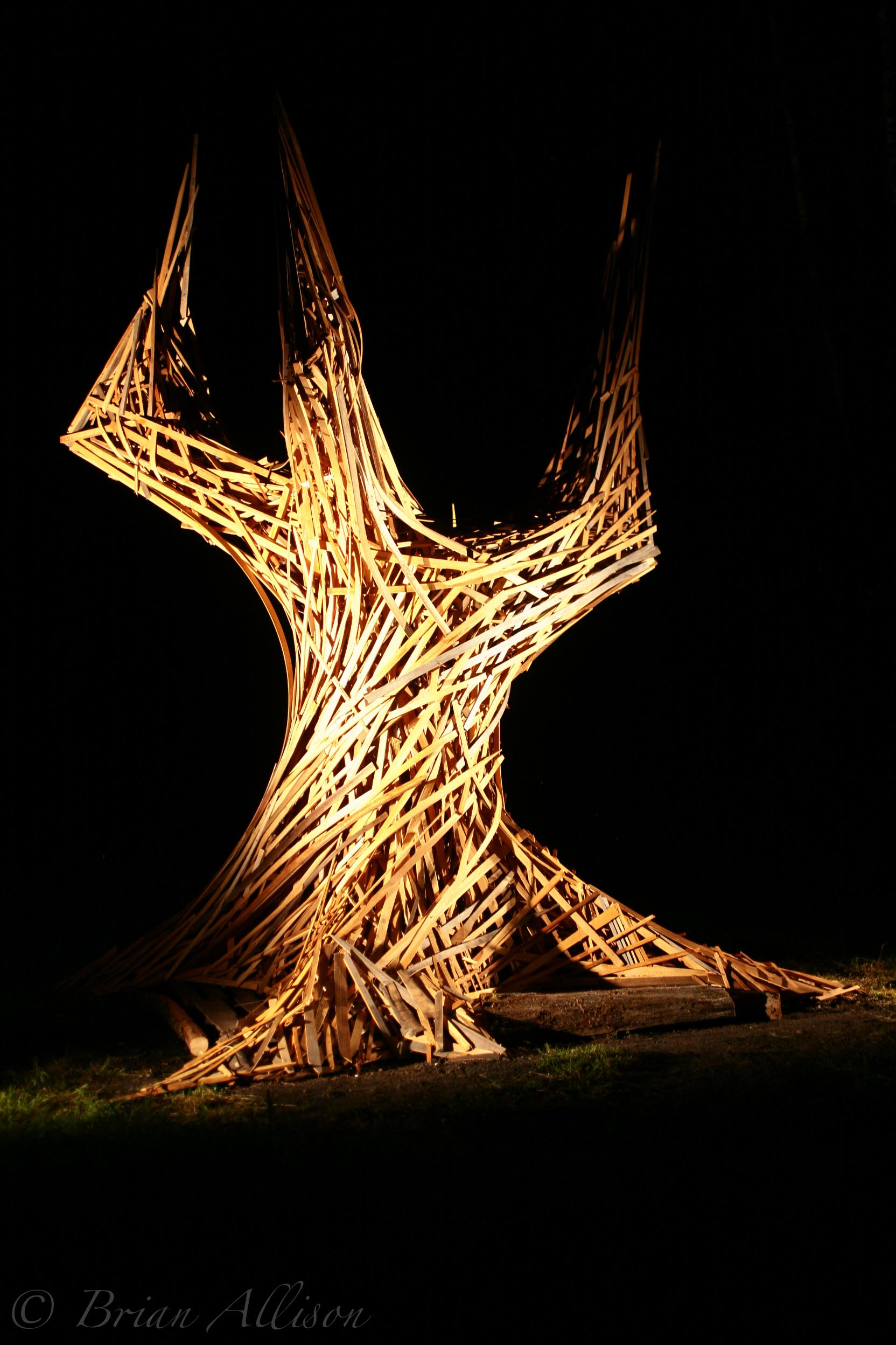 Wedding Tree Fire Sculpture