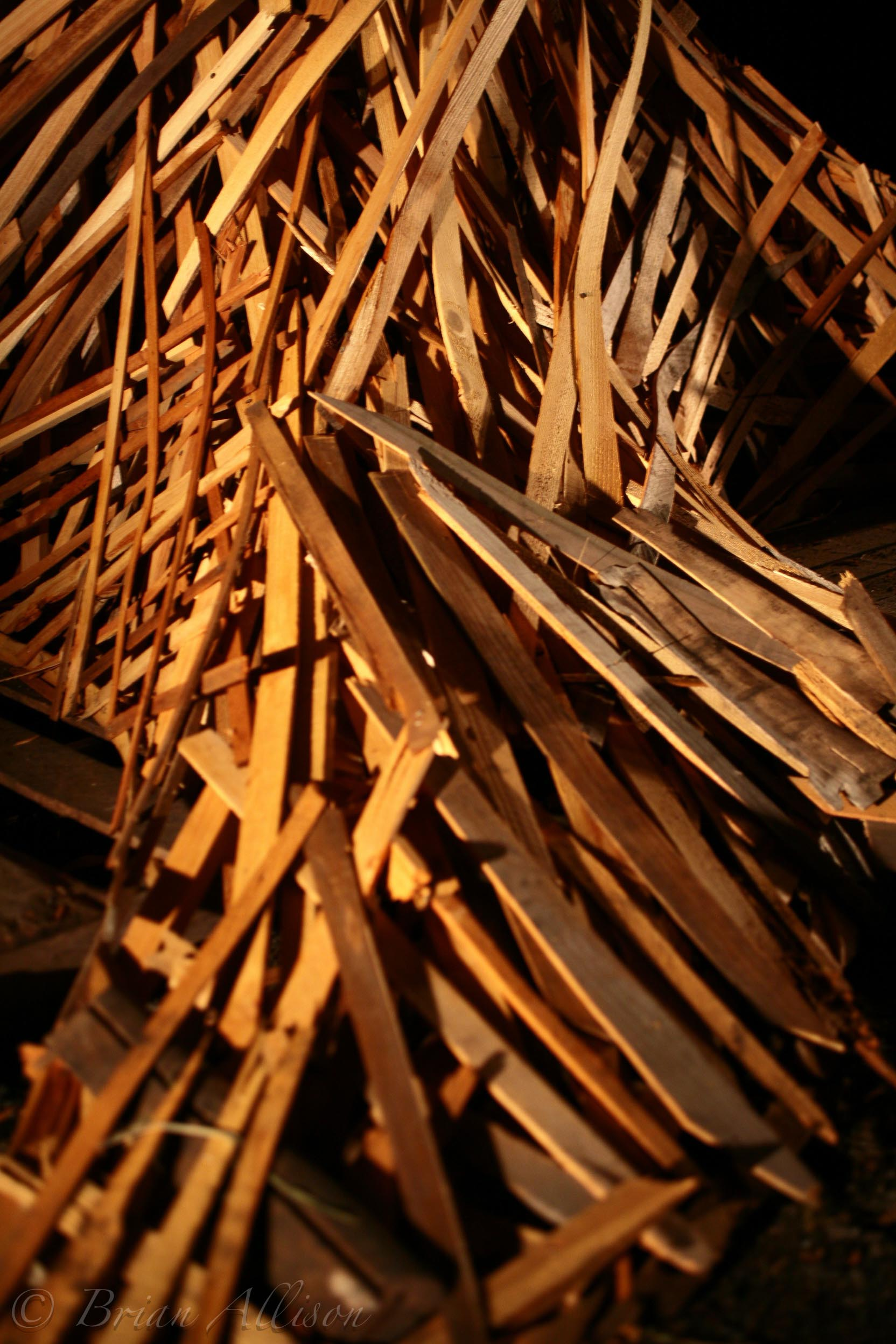 Fire Sculpture Close up View