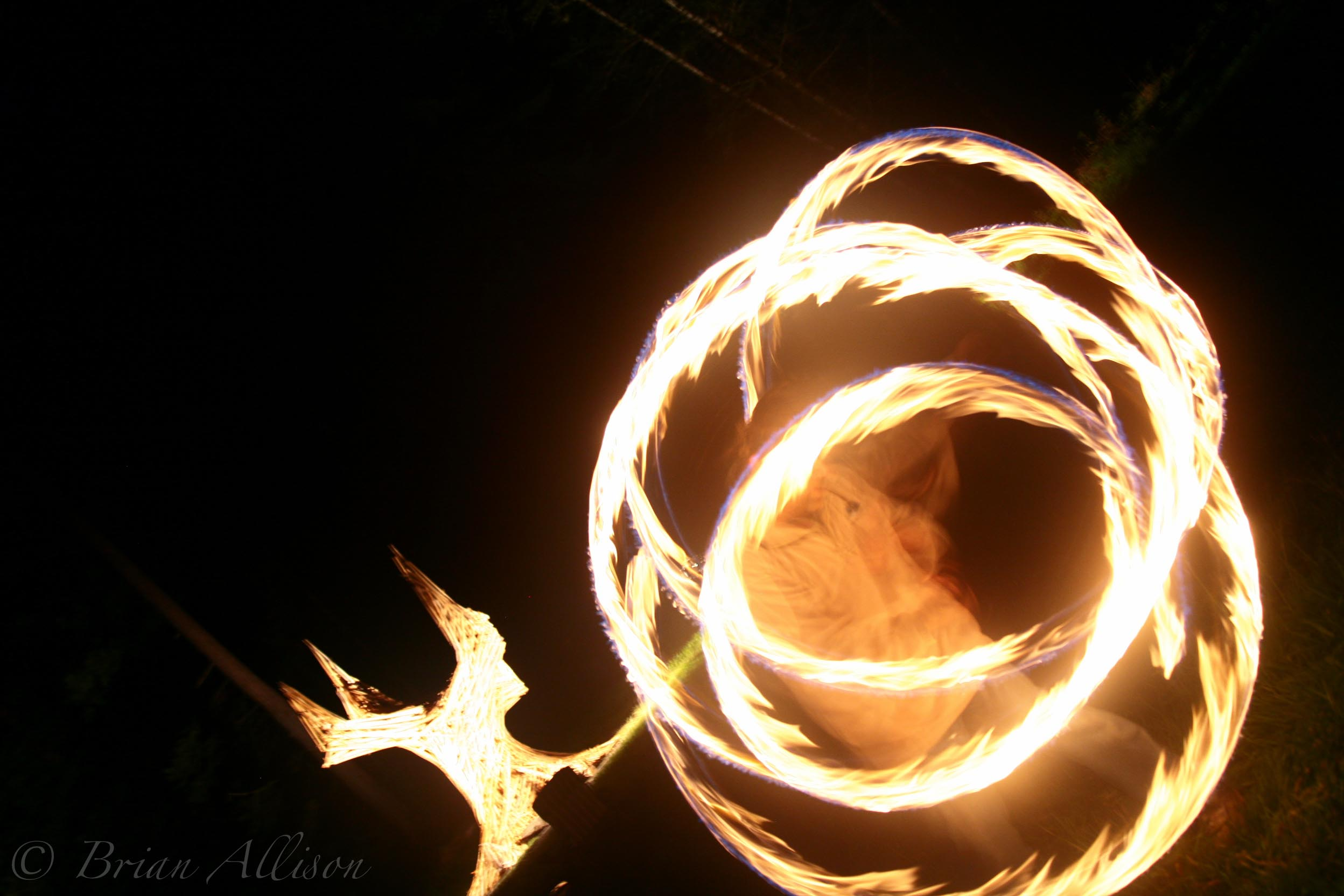 Fire Dancer & Wedding Tree Sculpture