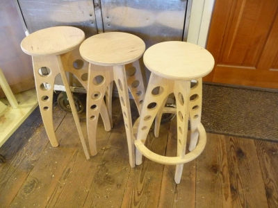 Baltic Birch Rocket Bar Stools