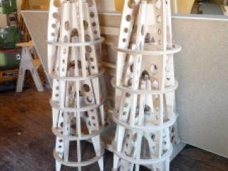 Baltic Birch Rocket Launch Stool Bases