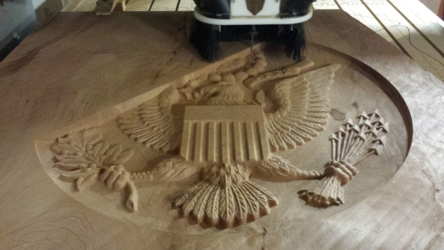 WoodLab Designs CNC created Courthouse Sculpture Emblem