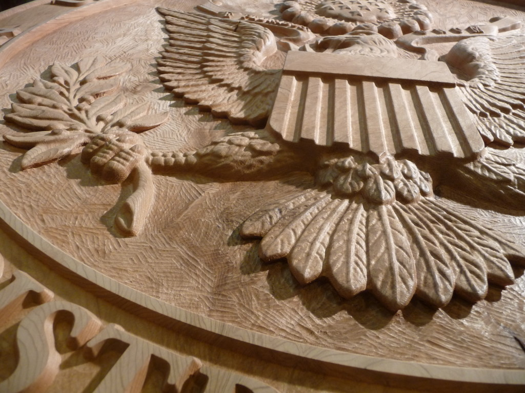 WoodLab Designs Courthouse Eagle Detail View