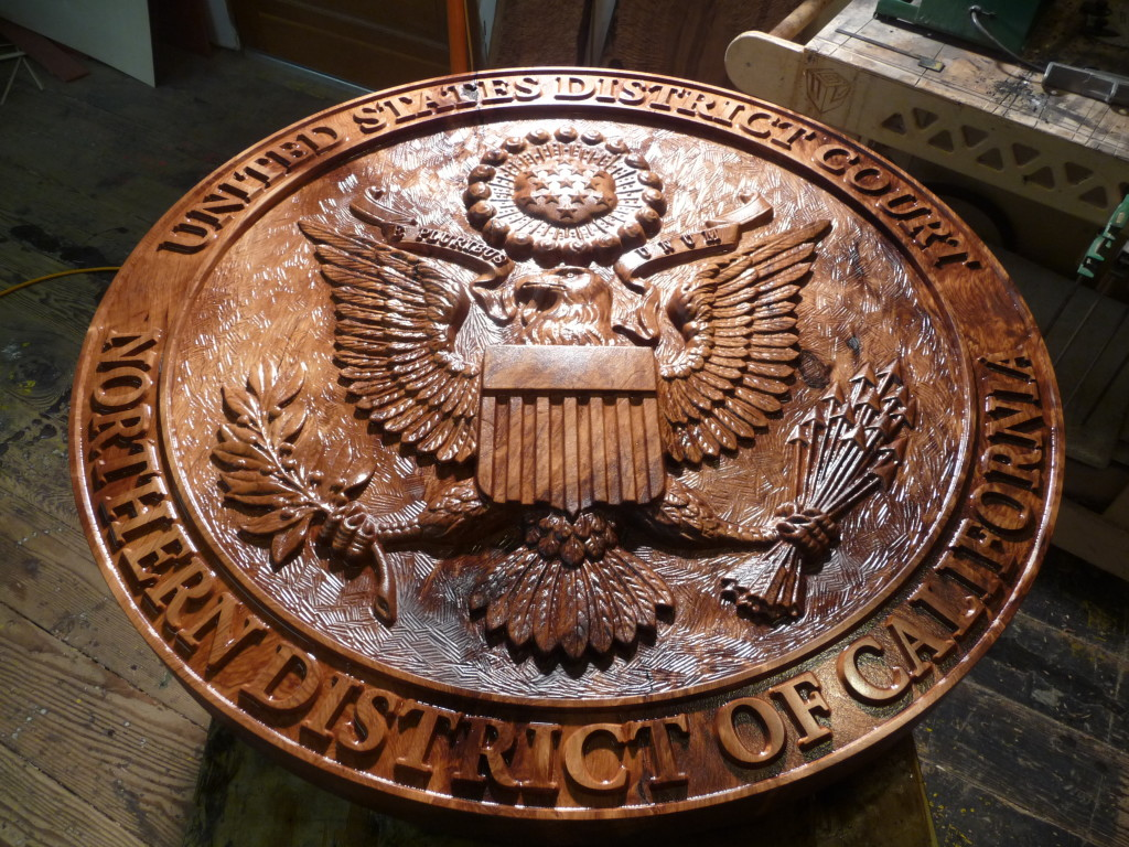 WoodLab District Court Seal Emblem