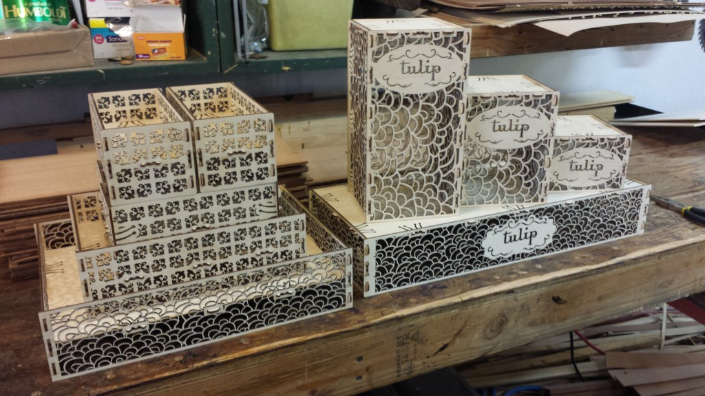 WoodLab Designs Laser Cut Baltic Birch Display Boxes