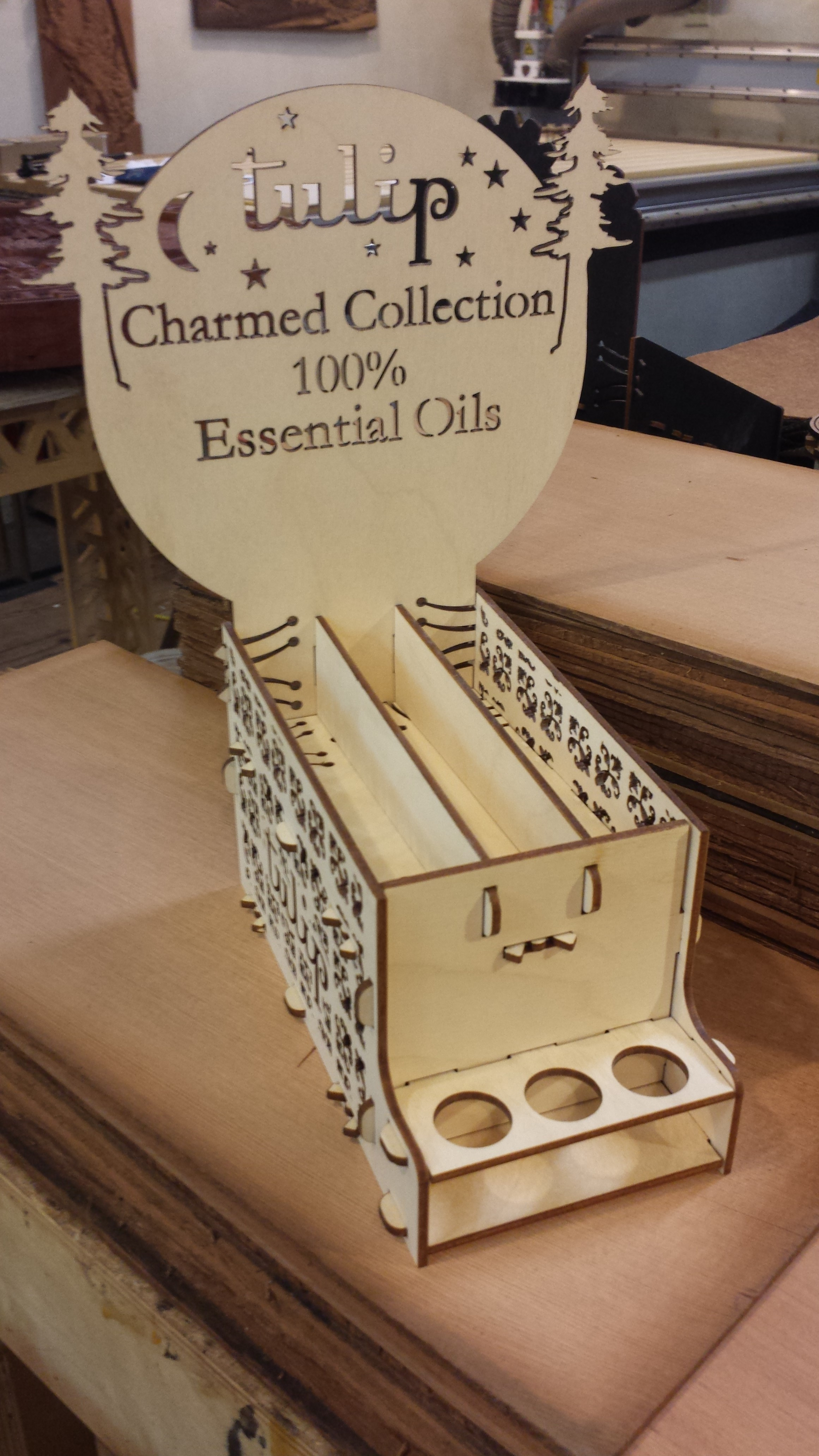Baltic Birch Essential Oil Display