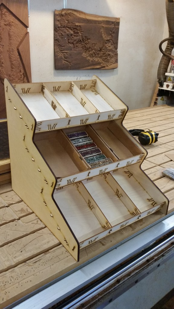 Baltic Birch Custom Chocolate Bar Display Prototype