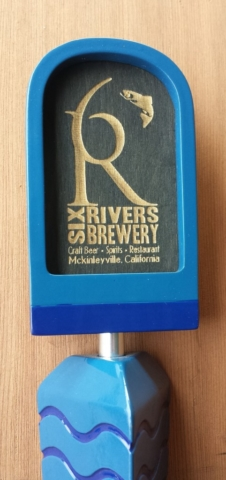 Custom Six Rivers Brewery Tap Handle