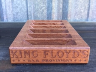 WoodLab Designs Sapele King Floyd's Bar Provisions Rim Salt Display Restaurant Supplies