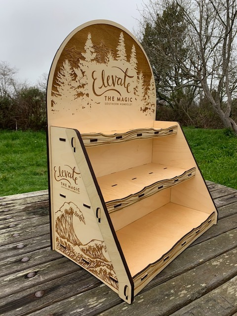 WoodLab Designs Southern Humboldt Business & Visitors Bureau Promotional Products Trade Show Display