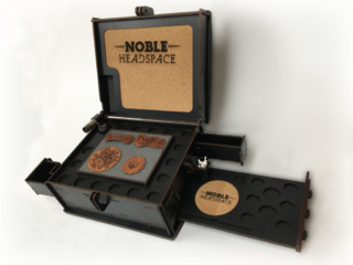 WoodLab Designs Live Terp Noble Headspace Limited Edition Deluxe Dab Rig Box with pull-out tray and hidden drawers