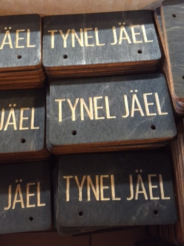 WoodLab Designs Tynel Jael Custom Jewelry Display Cards