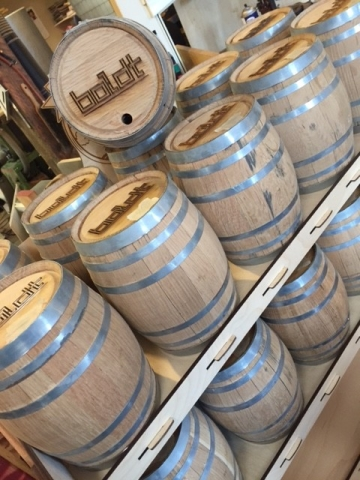 WoodLab Designs Boldt Branded Whiskey Barrels
