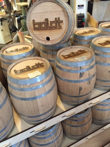 Alchemy Distillery Laser Etched Whiskey Barrels