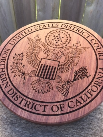 WoodLab Designs USA District Court Sculptural Emblem