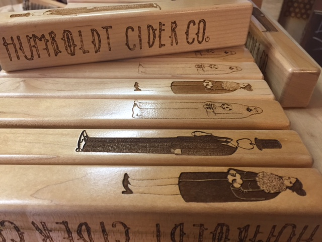 WoodLab Designs custom laser etched cider tap handles