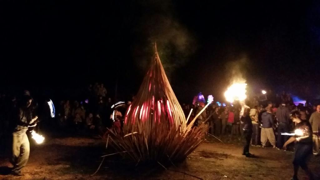 WoodLab Designs Glowing Fire Sculpture