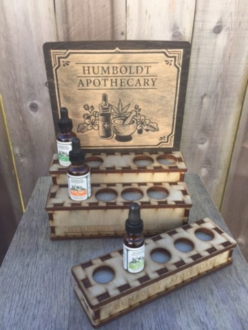 Versatile Tincture display by WoodLab Designs