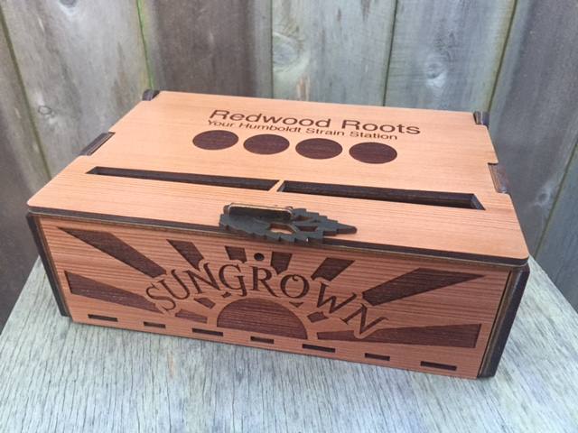WoodLab Designs Redwood Roots Marijuana Dispensary Gift Box