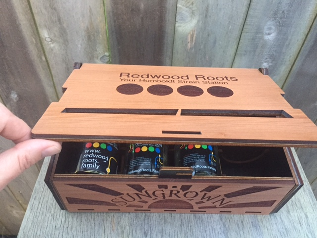 WoodLab Designs Redwood Roots Strain Station Product Sample Box