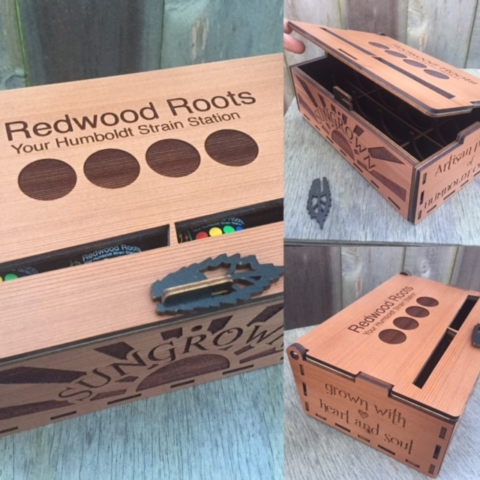 WoodLab Designs Redwood Roots Dispensary Gift Boxes