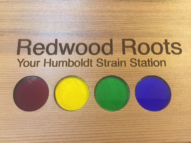 WoodLab Designs Redwood Roots Display Box Top with colored Glass Accents