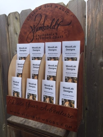 WoodLab Designs Humboldt Tourism & Visitors' Brochure Display Redwood Accents