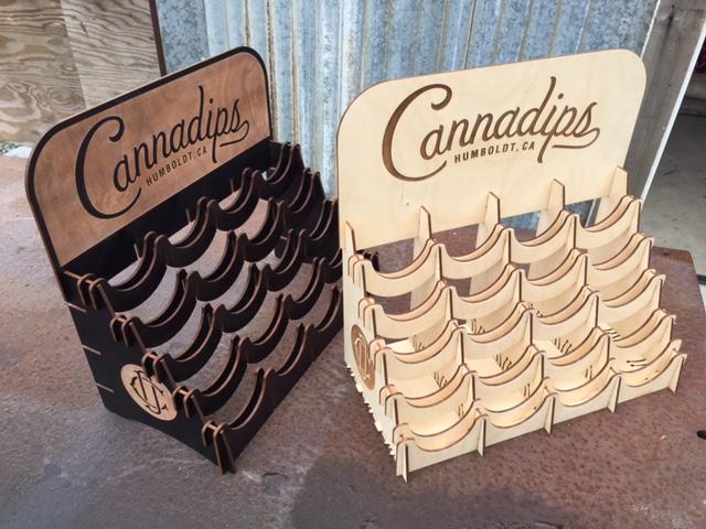 WoodLab Designs Baltic Birch Laser Etched Cannadips Displays