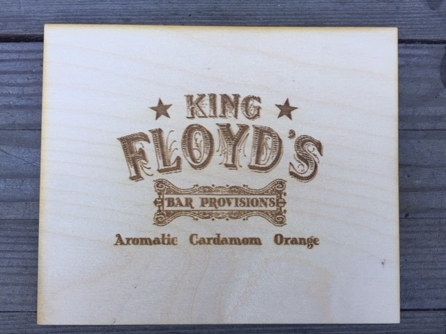 WoodLab Designs King Floyd's Custom Laser Engraved Bitters Box Lid