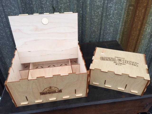 WoodLab Designs Baltic Birch Laser Cut Humboldt Cannabox Cannabis Concentrate & Flowers Box