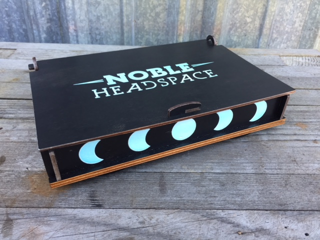WoodLab Designs Noble Headspace Limited Edition Moon Glow in the Dark Terp Box Exterior view