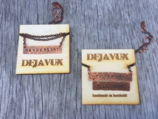WoodLab Designs Dejavux Jewelry Wooden Necklace card options